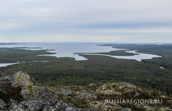 Озеро Пяозеро Карелия Лоухский район
