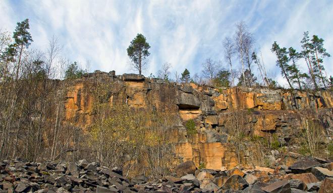 Подпорожский район, скалы