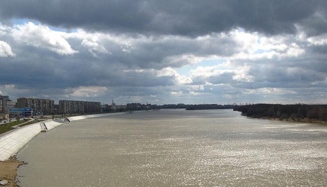 Река Иртыш город Омск