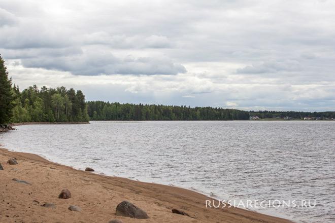 Пряжинский район озеро Сямозеро