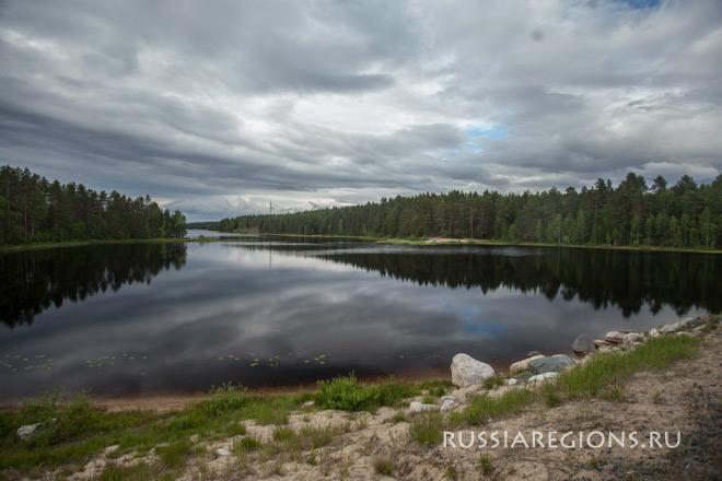 Суоярвский район Карелии берег озера