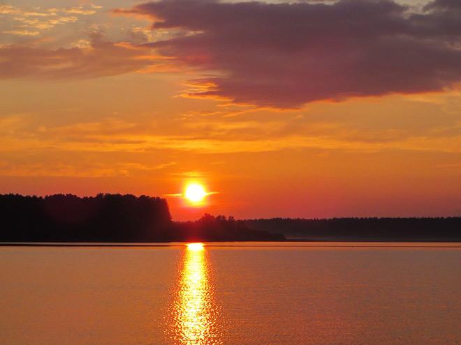 Онежское озеро, закат